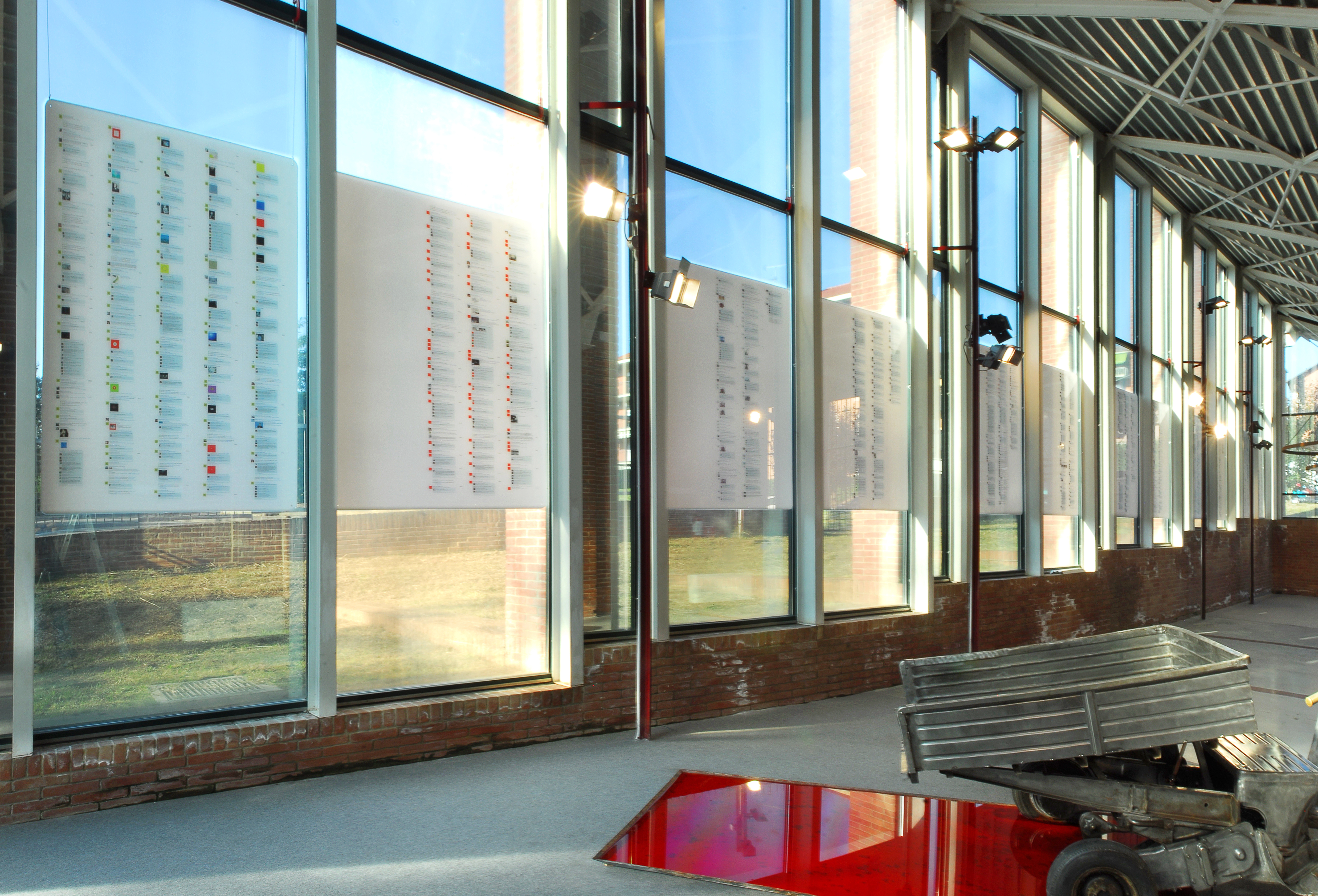 ALESSANDRO BULGINI Vivo 2008-09 Stampa ink-jet su plexiglass 12 elementi 186x124cm caduno