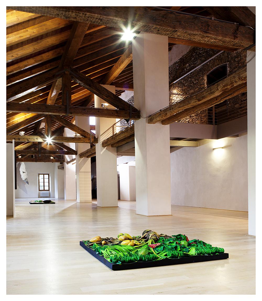 PIERO GILARDI Palmeto con cocchi 2011 Poliuretano espanso 150x150x30cm